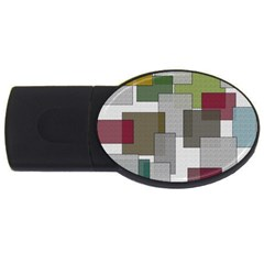 Decor Painting Design Texture Usb Flash Drive Oval (4 Gb) by Nexatart