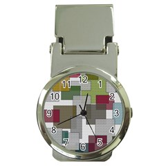 Decor Painting Design Texture Money Clip Watches