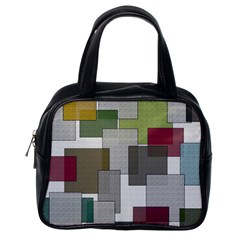 Decor Painting Design Texture Classic Handbags (one Side)