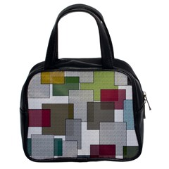 Decor Painting Design Texture Classic Handbags (2 Sides)
