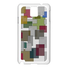 Decor Painting Design Texture Samsung Galaxy Note 3 N9005 Case (white)