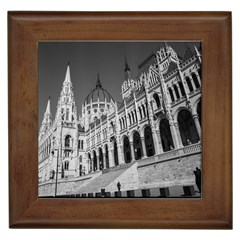 Architecture Parliament Landmark Framed Tiles by Nexatart