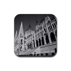 Architecture Parliament Landmark Rubber Coaster (square)  by Nexatart