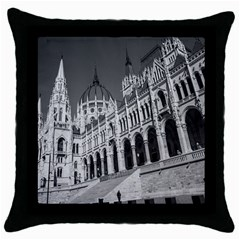Architecture Parliament Landmark Throw Pillow Case (black) by Nexatart