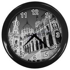Architecture Parliament Landmark Wall Clocks (black) by Nexatart