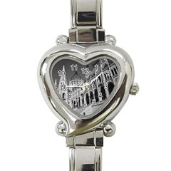 Architecture Parliament Landmark Heart Italian Charm Watch by Nexatart