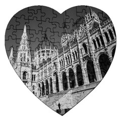 Architecture Parliament Landmark Jigsaw Puzzle (heart)