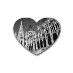 Architecture Parliament Landmark Rubber Coaster (heart)