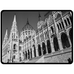 Architecture Parliament Landmark Fleece Blanket (large)  by Nexatart