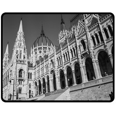 Architecture Parliament Landmark Fleece Blanket (medium)  by Nexatart