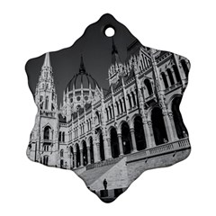 Architecture Parliament Landmark Snowflake Ornament (two Sides) by Nexatart