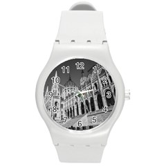 Architecture Parliament Landmark Round Plastic Sport Watch (m) by Nexatart