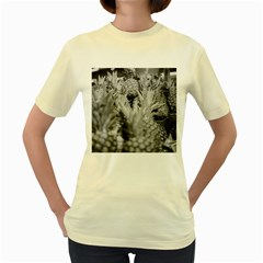 Pineapple Market Fruit Food Fresh Women s Yellow T Shirt