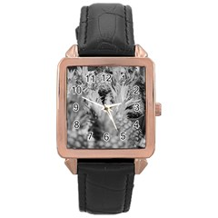 Pineapple Market Fruit Food Fresh Rose Gold Leather Watch