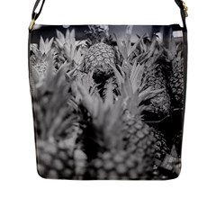 Pineapple Market Fruit Food Fresh Flap Messenger Bag (l)