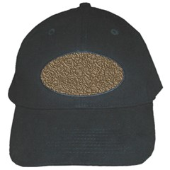 Leather Texture Brown Background Black Cap