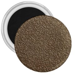 Leather Texture Brown Background 3  Magnets