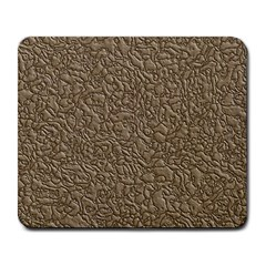 Leather Texture Brown Background Large Mousepads