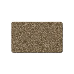 Leather Texture Brown Background Magnet (name Card)