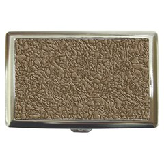 Leather Texture Brown Background Cigarette Money Cases