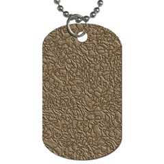 Leather Texture Brown Background Dog Tag (two Sides) by Nexatart