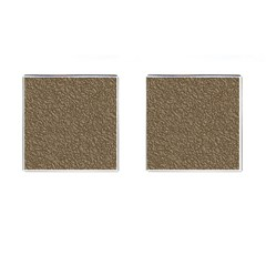 Leather Texture Brown Background Cufflinks (square)