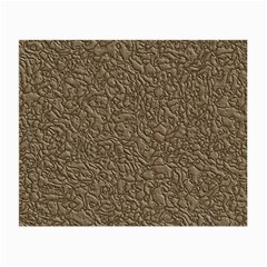 Leather Texture Brown Background Small Glasses Cloth (2 Side)