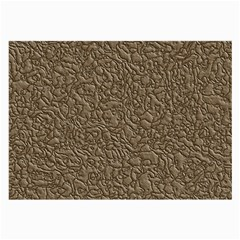 Leather Texture Brown Background Large Glasses Cloth