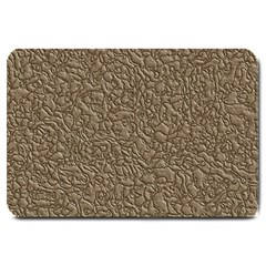 Leather Texture Brown Background Large Doormat