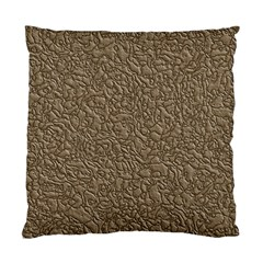 Leather Texture Brown Background Standard Cushion Case (one Side)