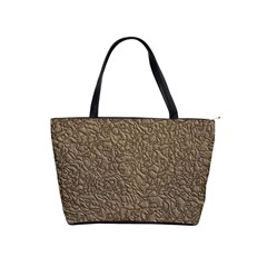 Leather Texture Brown Background Shoulder Handbags by Nexatart