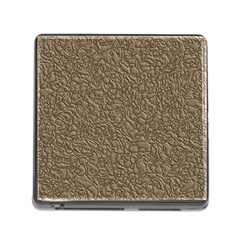 Leather Texture Brown Background Memory Card Reader (square)