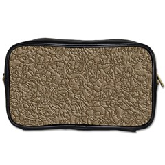Leather Texture Brown Background Toiletries Bags