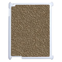Leather Texture Brown Background Apple Ipad 2 Case (white) by Nexatart