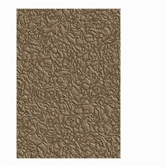 Leather Texture Brown Background Small Garden Flag (two Sides) by Nexatart