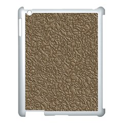 Leather Texture Brown Background Apple Ipad 3/4 Case (white) by Nexatart
