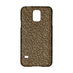 Leather Texture Brown Background Samsung Galaxy S5 Hardshell Case