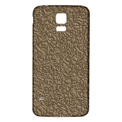 Leather Texture Brown Background Samsung Galaxy S5 Back Case (white)