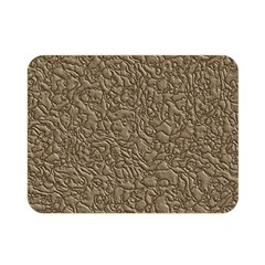 Leather Texture Brown Background Double Sided Flano Blanket (mini)  by Nexatart
