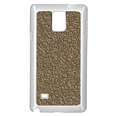 Leather Texture Brown Background Samsung Galaxy Note 4 Case (white)