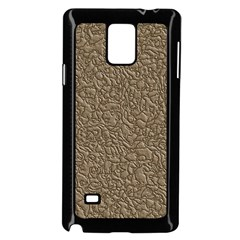 Leather Texture Brown Background Samsung Galaxy Note 4 Case (black)