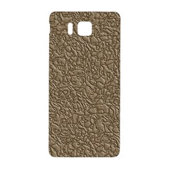 Leather Texture Brown Background Samsung Galaxy Alpha Hardshell Back Case by Nexatart