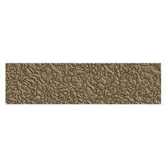 Leather Texture Brown Background Satin Scarf (oblong)