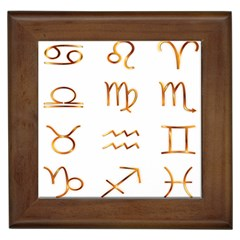 Signs Of The Zodiac Zodiac Aries Framed Tiles
