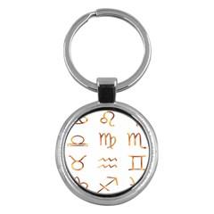 Signs Of The Zodiac Zodiac Aries Key Chains (round)