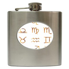 Signs Of The Zodiac Zodiac Aries Hip Flask (6 Oz)