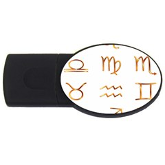 Signs Of The Zodiac Zodiac Aries Usb Flash Drive Oval (4 Gb) by Nexatart