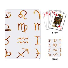 Signs Of The Zodiac Zodiac Aries Playing Card