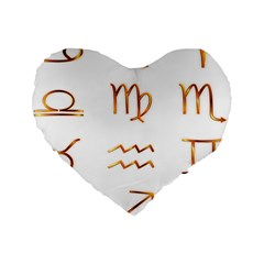 Signs Of The Zodiac Zodiac Aries Standard 16  Premium Heart Shape Cushions by Nexatart