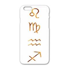 Signs Of The Zodiac Zodiac Aries Apple Iphone 6/6s White Enamel Case